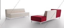 Sofas color rojo y blanco