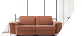 Sofa color marron
